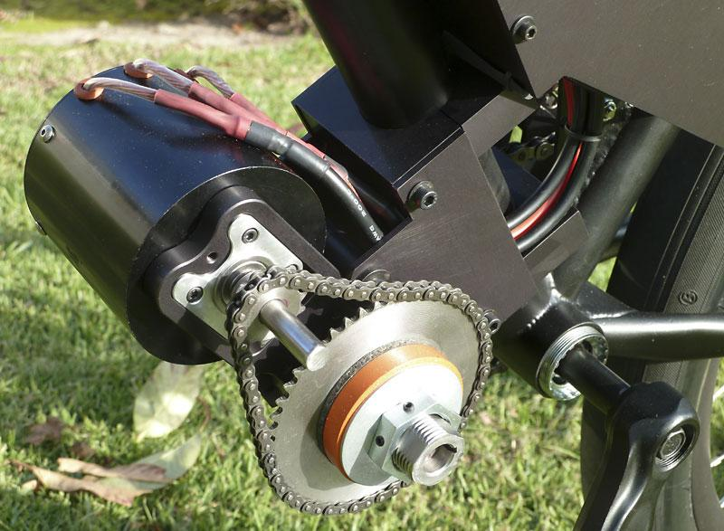 The eCortina's electric Astroflight 3220 motor (Photo: Roy Prince)