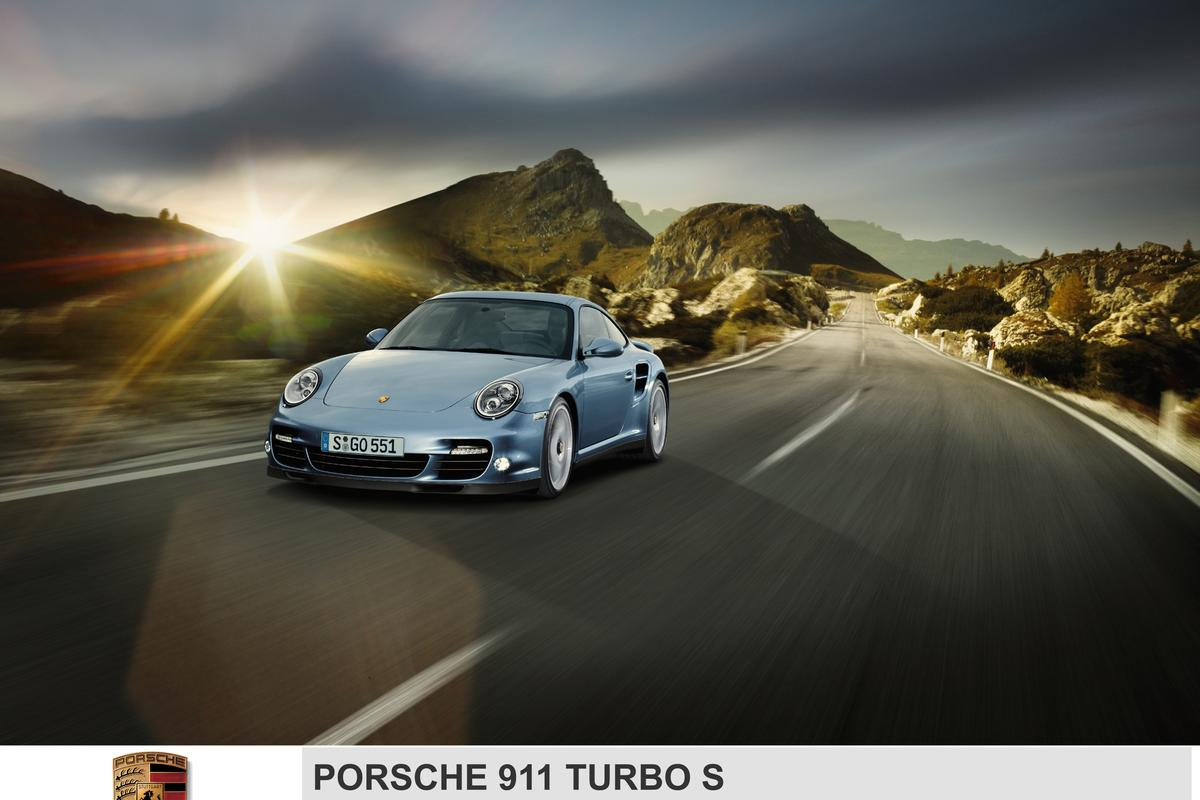 The new Porsche 911 Turbo S - 530hp, 7-speed paddle-shift gearbox, 0-100kmh in 3.3 seconds, and still manages 24.8mpg