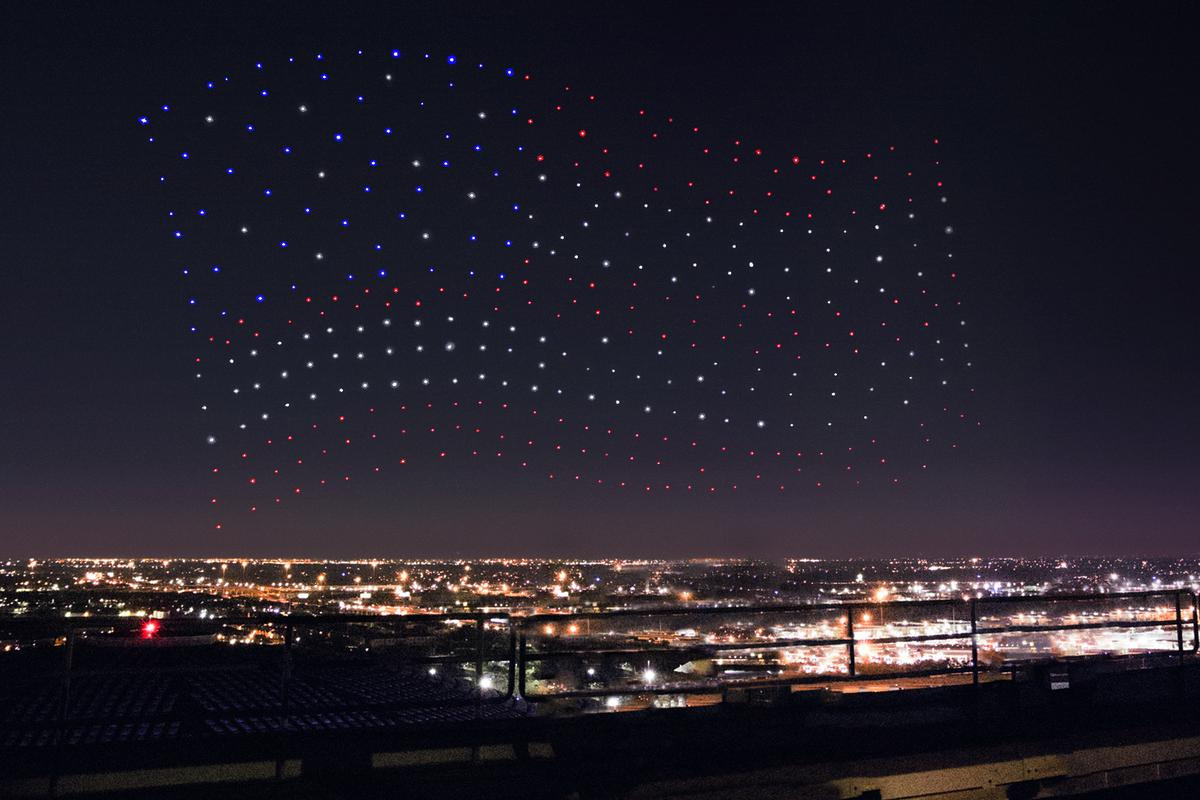 Intel and the NFL filmed the 300 drones in action prior to the event