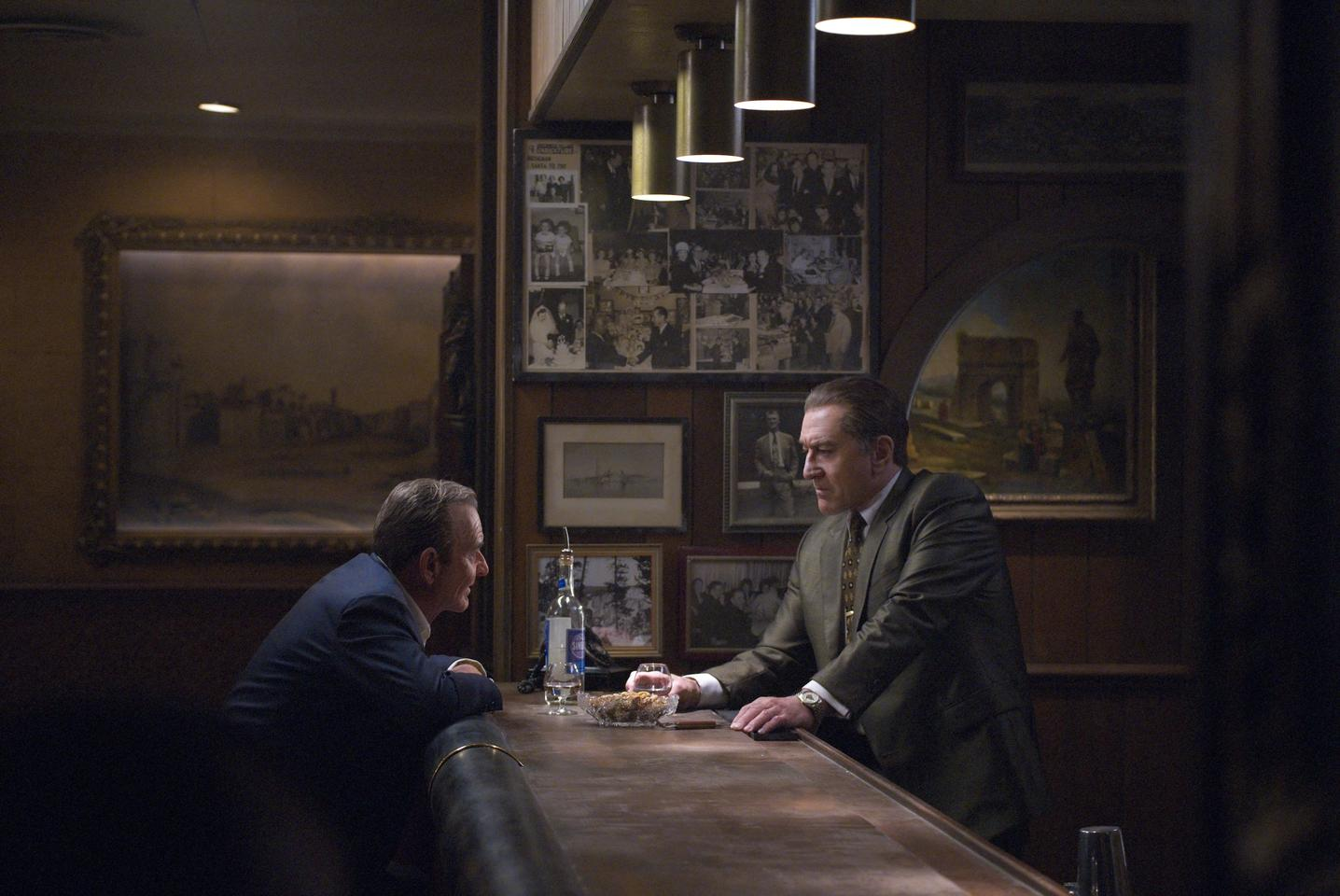 Joe Pesci (Russell Bufalino) and Robert De Niro (Frank Sheeran) in The Irishman