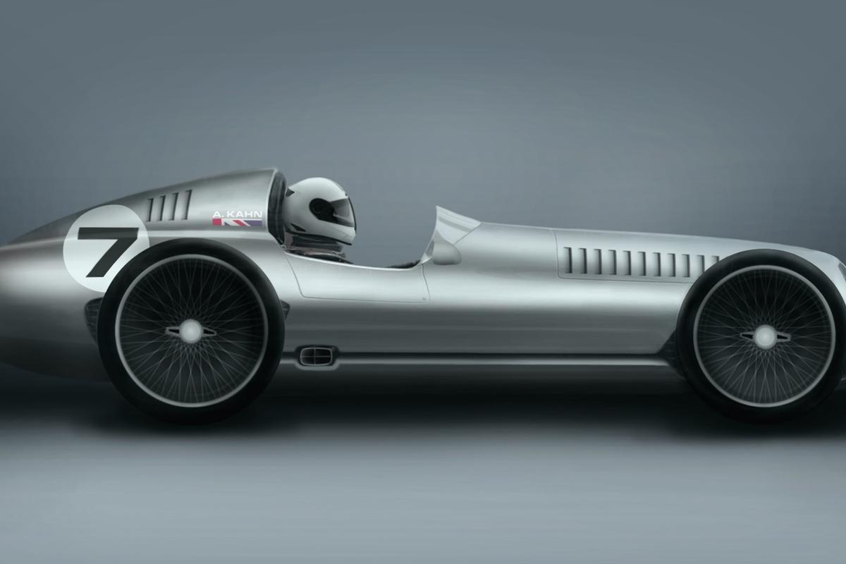 The Speed 7 is inspired by 1930s Grand Prix race cars