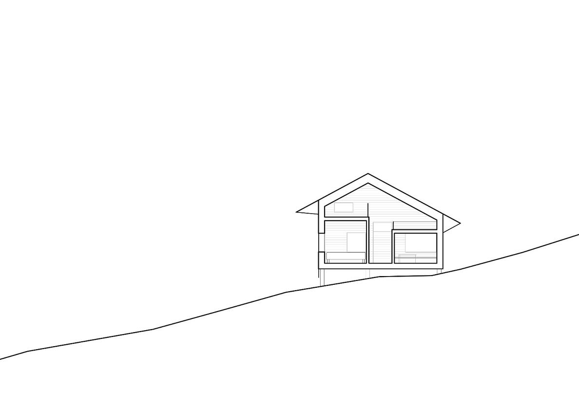 Architectural drawing ofCabin Ustaoset