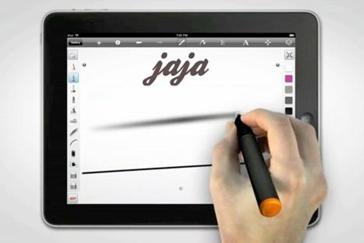 The jaja is a computer stylus that transmits user pressure using high-frequency sound