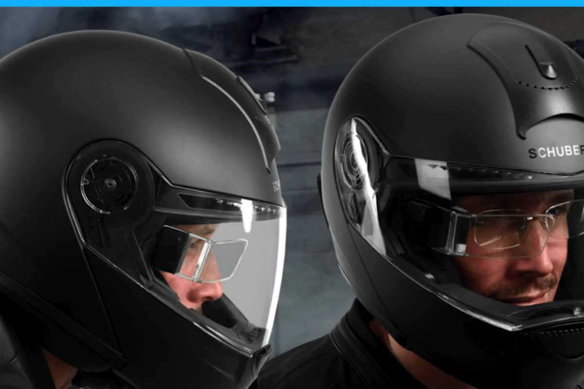 Digilens's motorcycle HUD should work fine with eyeglasses