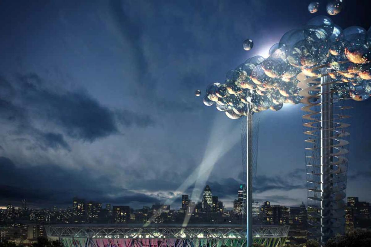 The Cloud would be a multi-tower structure, 400ft tall, comprising huge clear bubbles that would afford amazing views and also project results and news at the 2012 London Olympics