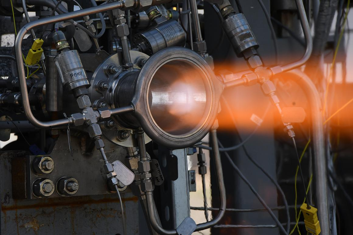 Through hot-fire testing at NASA's Marshall Space Flight Center, engineers put this nozzle through its paces, accumulating more than 1,040 seconds at high combustion chamber pressures and temperatures