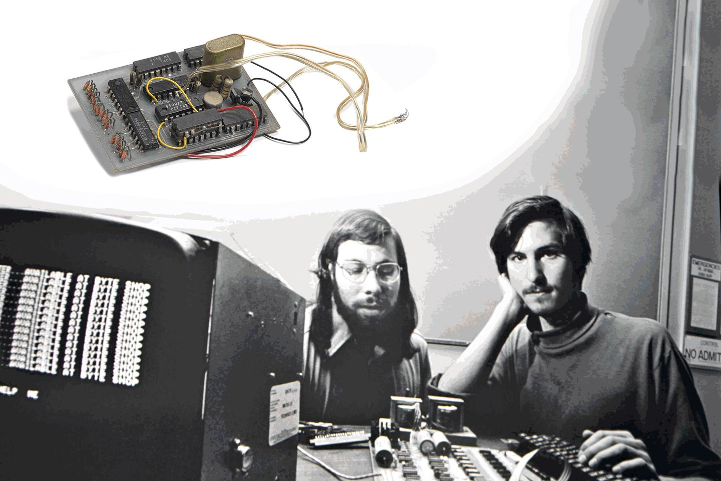 The blue box was the first product collaboration between Apple founders Wozniak and Jobs sold to friends at Berkeley in 1972-73