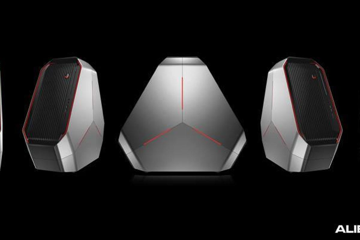 The Alienware Area-51 desktop gaming system with all-new Triad chassis