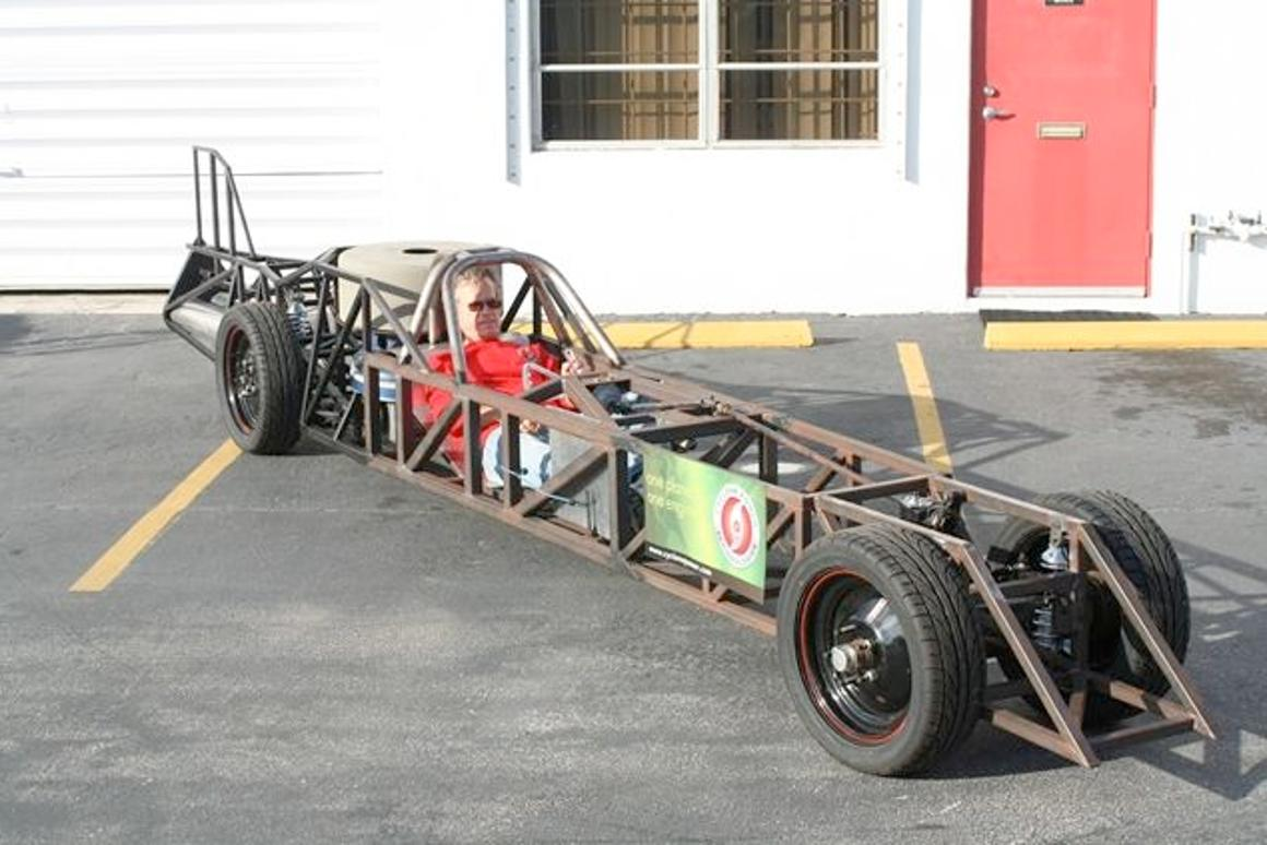 The LSR Streamliner, once complete, will be used in an attempt on the land speed record for steam-powered vehicles