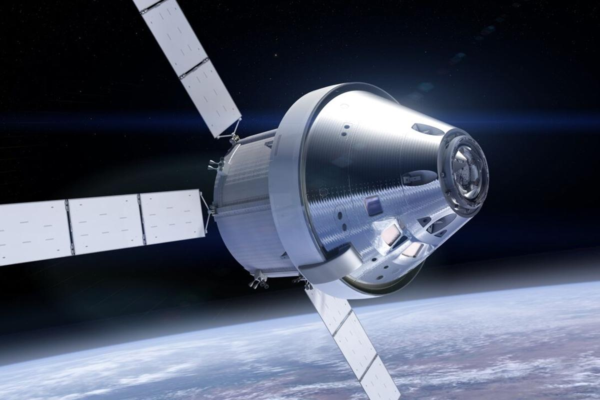 Artist's concept of the Orion capsule with the new coating