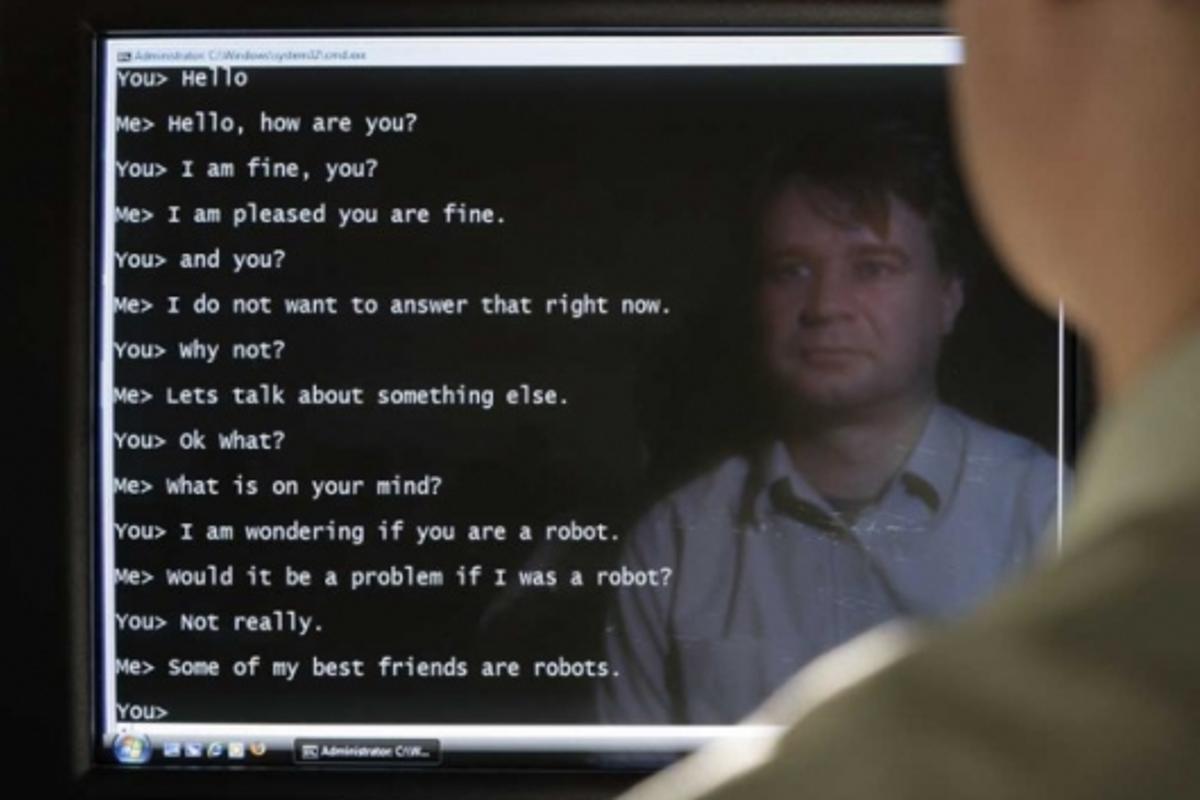 ACE conversing with human interrogator