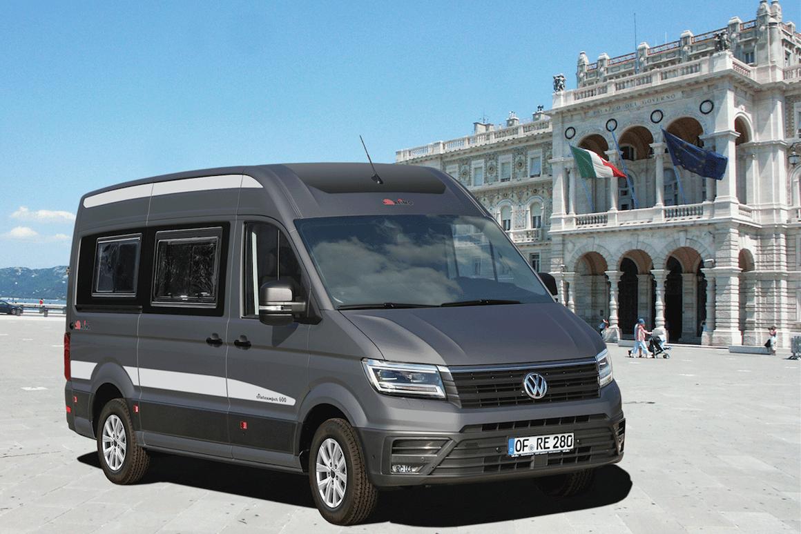 Reimo flips the Volkswagen Crafter camper van into a roomier