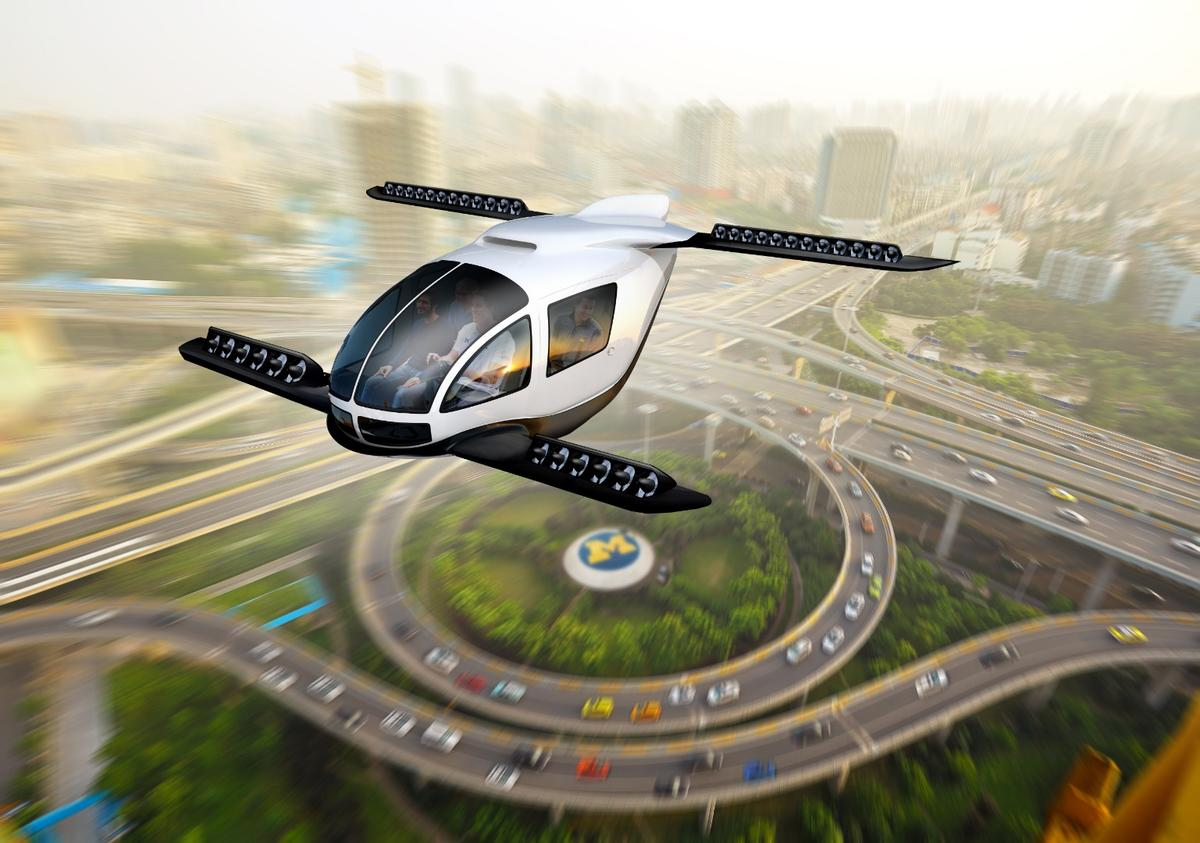 An 'artistic rendering' of a future VTOLair commuter
