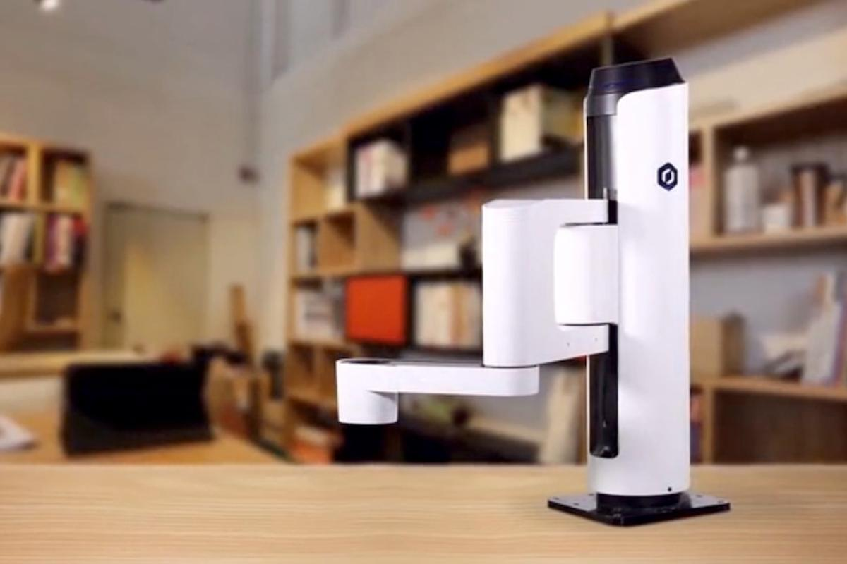Dobot M1 is a consumer-level robot arm, with interchangeable tool heads for small business use in workshops and warehouses