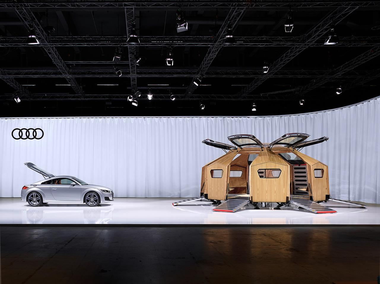 The Audi TT Pavilion is on display at the Design Miami/Basel show