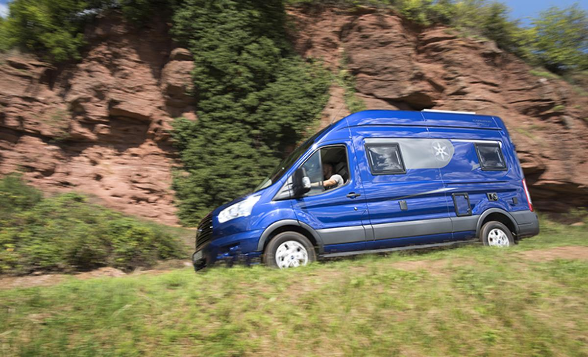 The Karmann Dexter 560 4x4is based on a Ford Transit with intelligent all-wheel drive