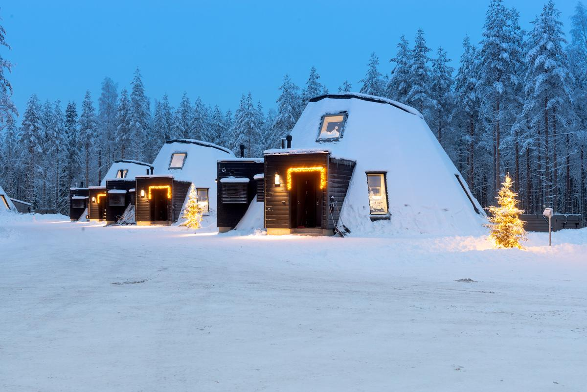 Igloo-inspired cabins by Void Architecture