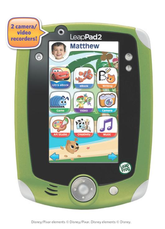 The child-friendly LeapPad 2 sports two cameras and comes bundled with five apps