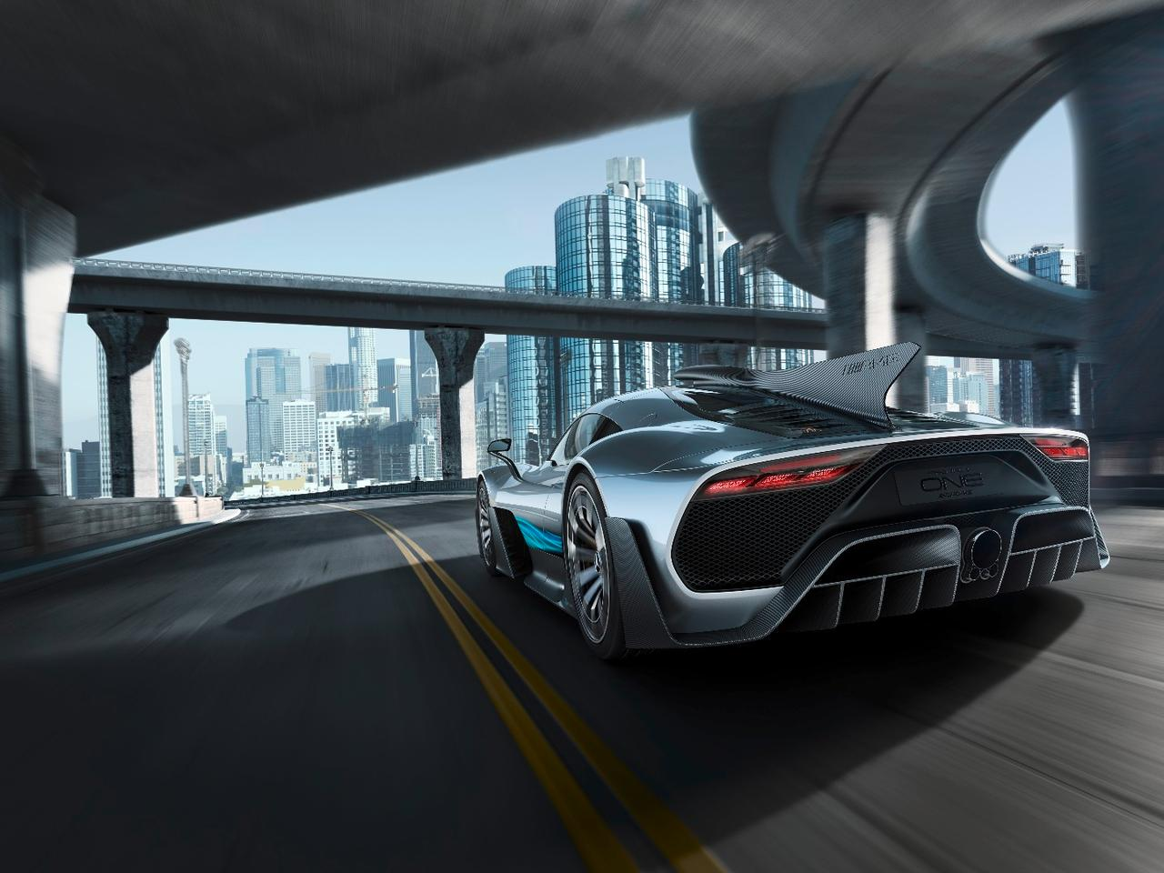 TheMercedes-AMG Project ONEshow car is expected to have a kerb weight around 1200kg. The car was developed jointly by AMG in Affalterbach, Germany, its High Performance Powertrain sister company located in Brixworth, England and the Mercedes-AMG Formula One team based in Brackley, England.
