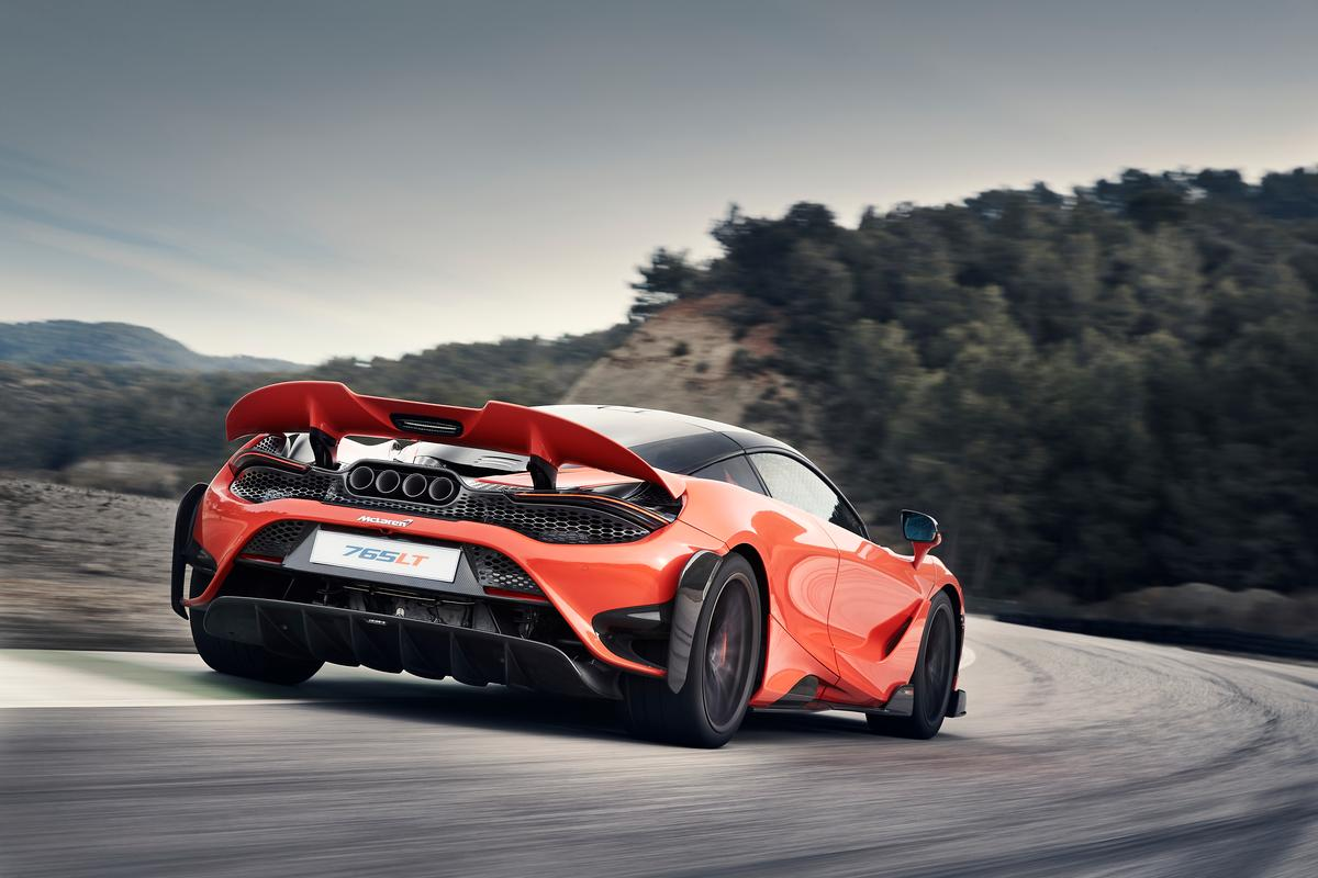 McLaren has juiced up its 720 supercar to create the lighter, faster, lower and more track-focused 765LT (Longtail)