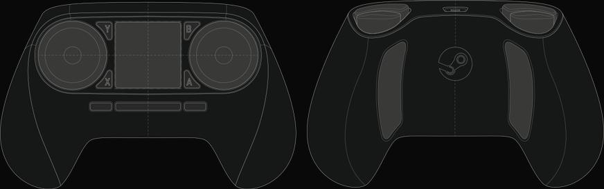 A total of sixteen buttons are arranged around the Steam Controller's body and have been placed mainly for ergonomic comfort and ease-of-use