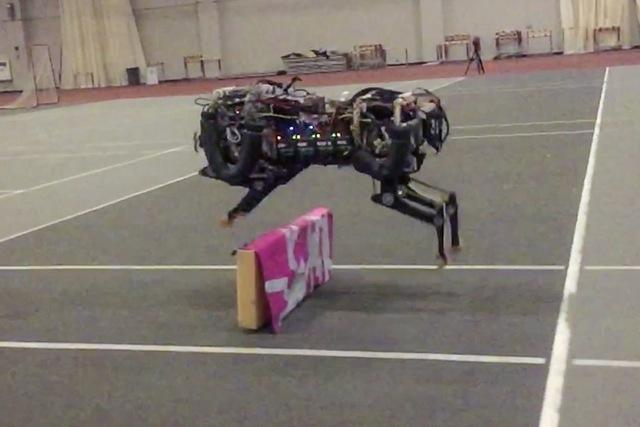 The MIT team says it has now trained the first four-legged robot capable of jumping over hurdles autonomously as it runs