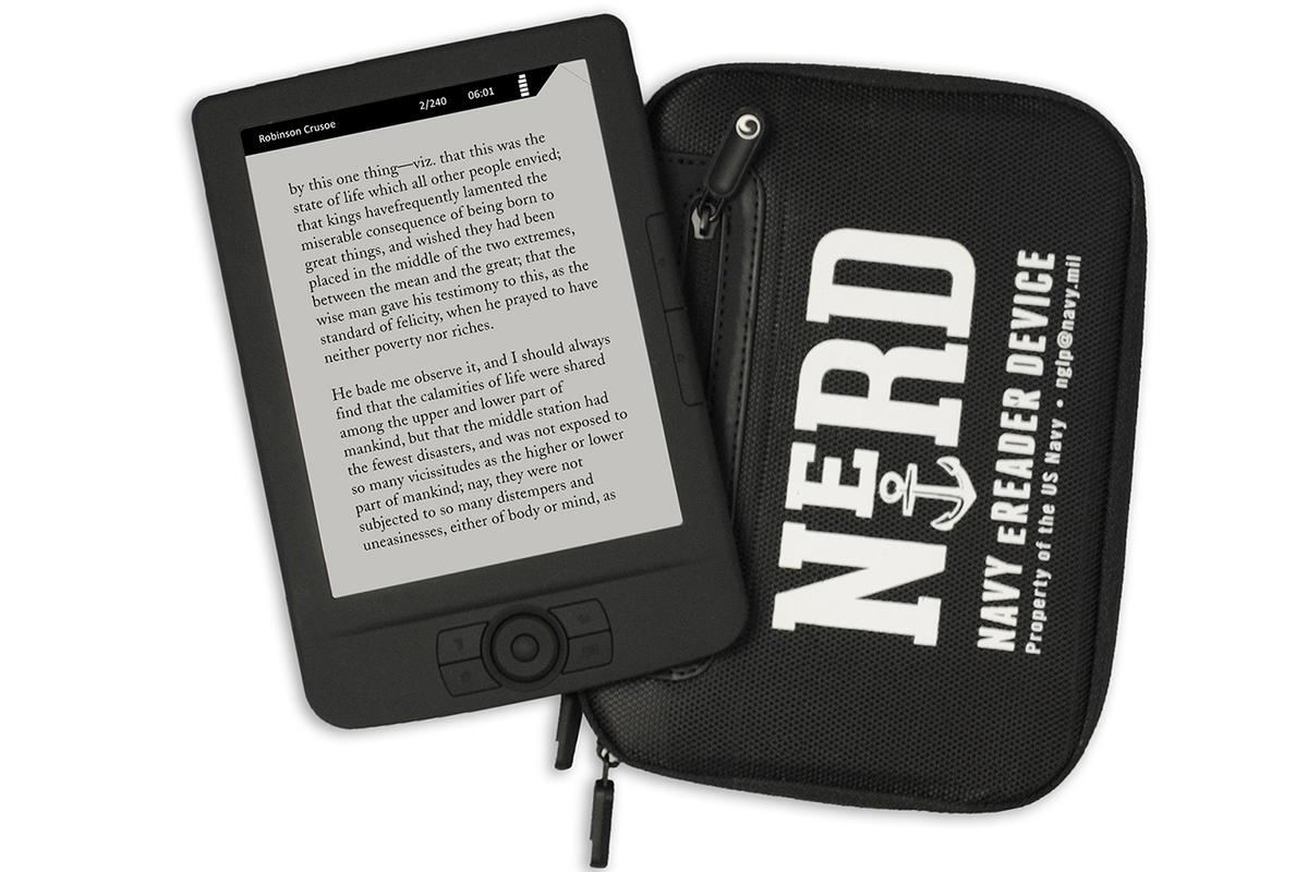 NeRD is a compromise technology designed to give sailors an e-reader that won't give Blofeld a leg up (Photo: US Navy )