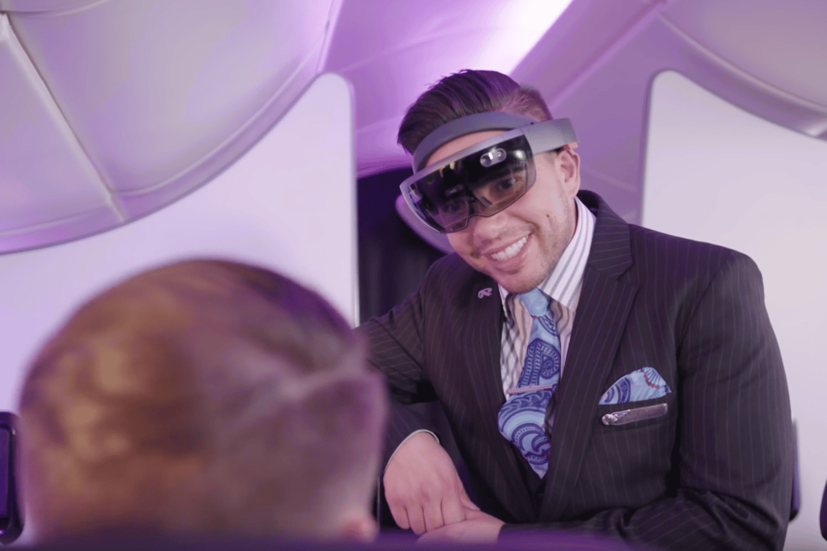 Air New Zealand has been investigating ways the Microsoft HoloLens could be used to improve its cabin crew services