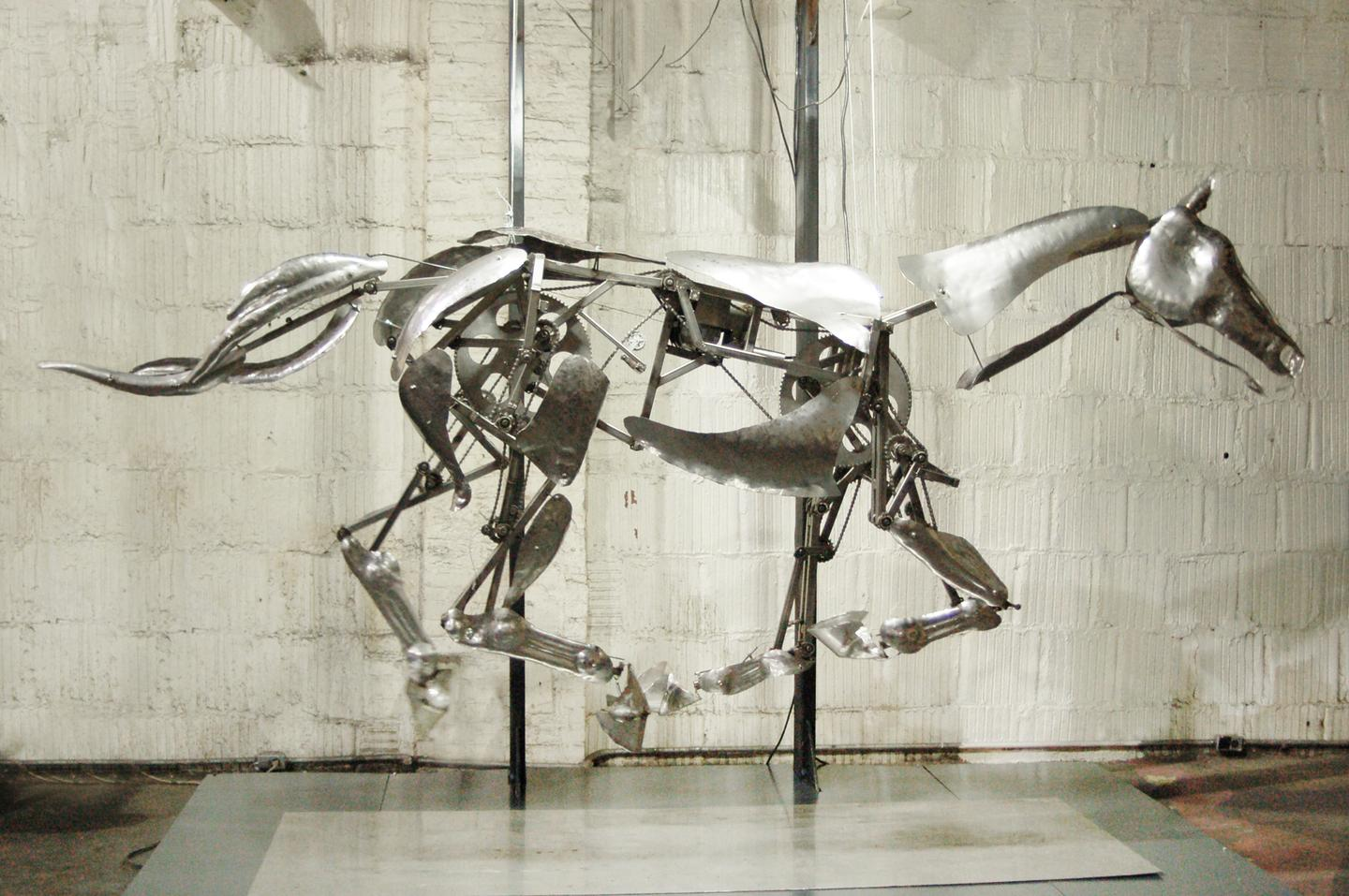 The galloping Mechanical Horse, caught in motion (Photo: Adrian Landon)