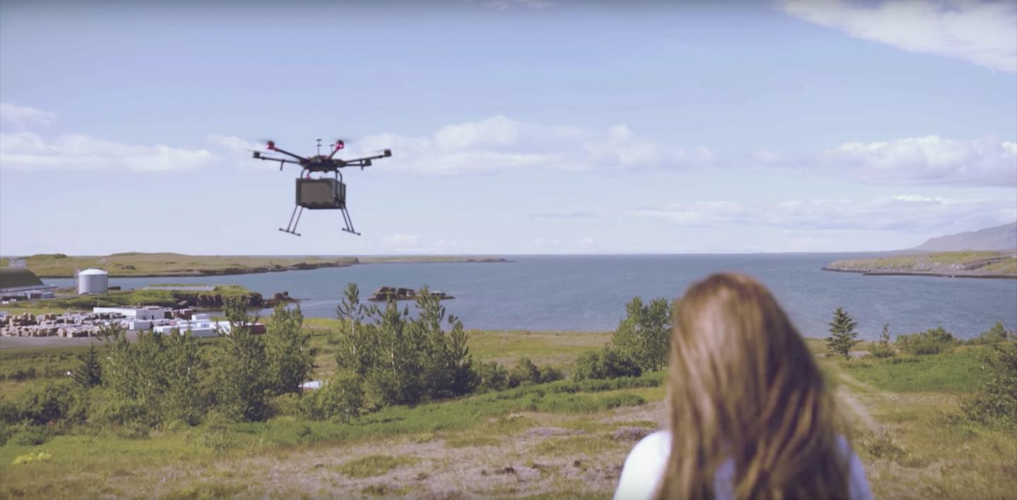 Drone company Flytrex and online retailer AHA have partnered up to roll out the world's first commercial drone delivery flights in Reykjavik, Iceland