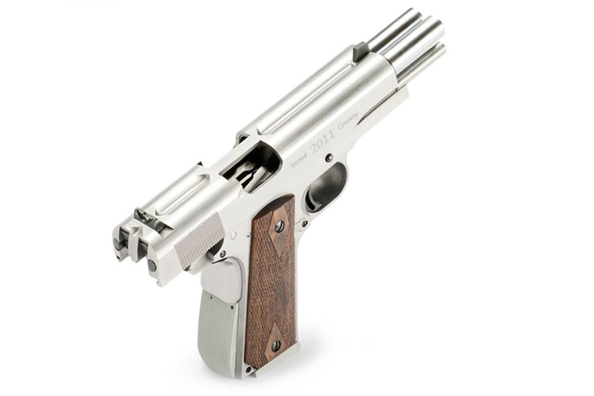 Af2011 A1 arsenal firearms' double barrel pistol shoots two bullets at
