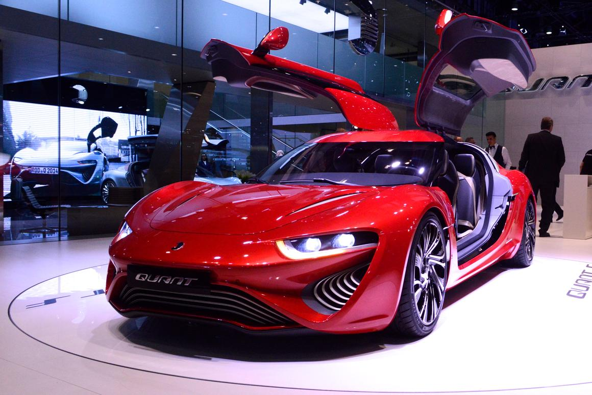 Nanoflowcell claims a peak output of 1,075 hp and a 0-62 mph of 2.8 seconds for its Quant F (Photo: C.C. Weiss/Gizmag.com)