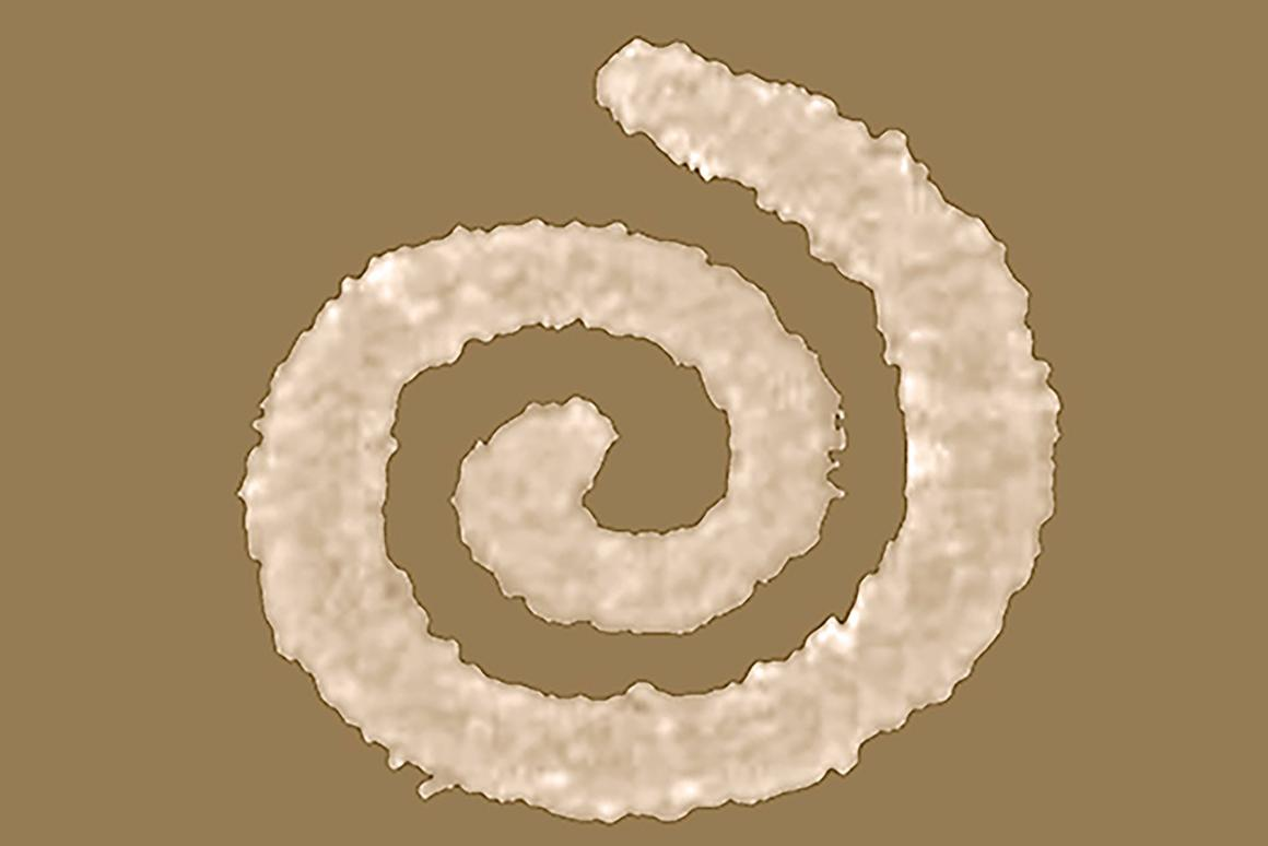 The nano-spirals emit a very specific optical signature that could be recognized by a barcode reader-like device