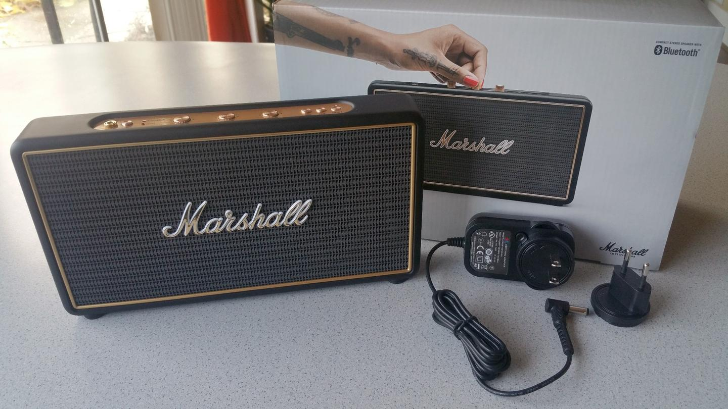 All you get with the Marshall Stockwell speaker is the wall adapter