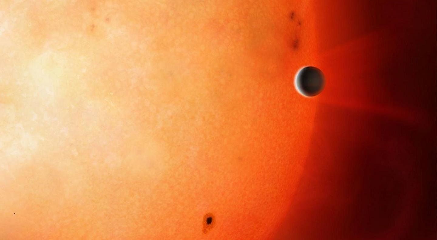An exoplanet smaller than Neptune with its own atmosphere has been discovered in a Neptunian Desert