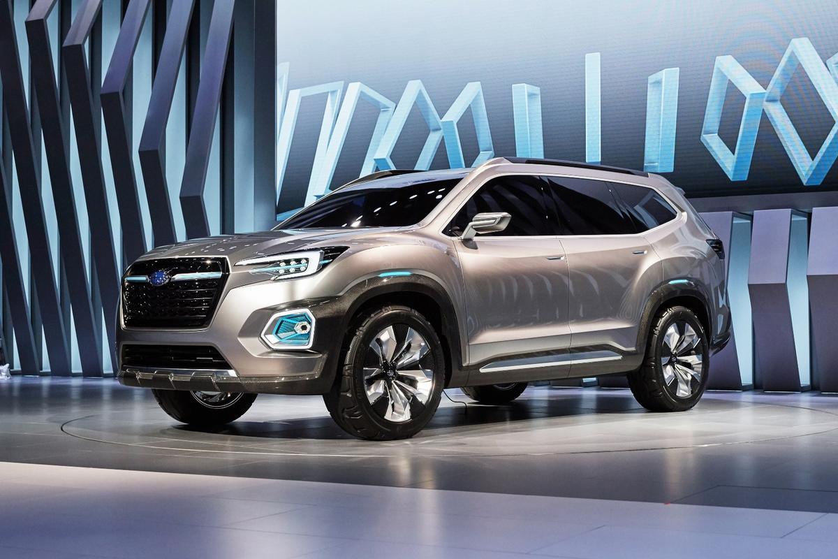 Subaru launched the Viziv-7 at the Los Angeles Motor Show