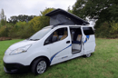 The e-NV200 Camper Car comes standard with a pop-up roof, upper bed sold as an option