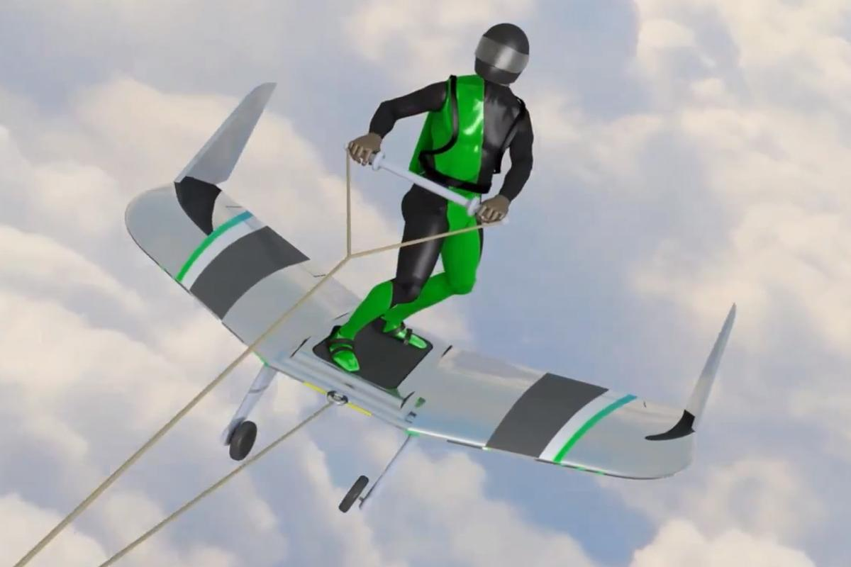 WingBoarding would see adrenalin junkies towed behind a plane atop a winged board