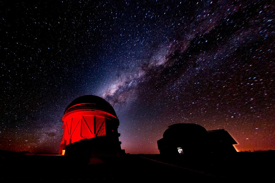 The Blanco Telescope located at the Cerro Tololo Inter-American Observatory, Chile