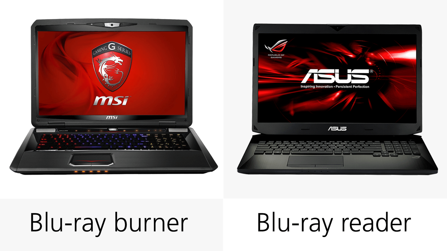 Both machines have Blu-ray support, but the MSI system has the edge