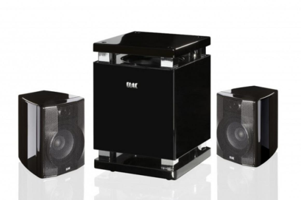 ELAC's pint sized 2.1 desktop speaker system