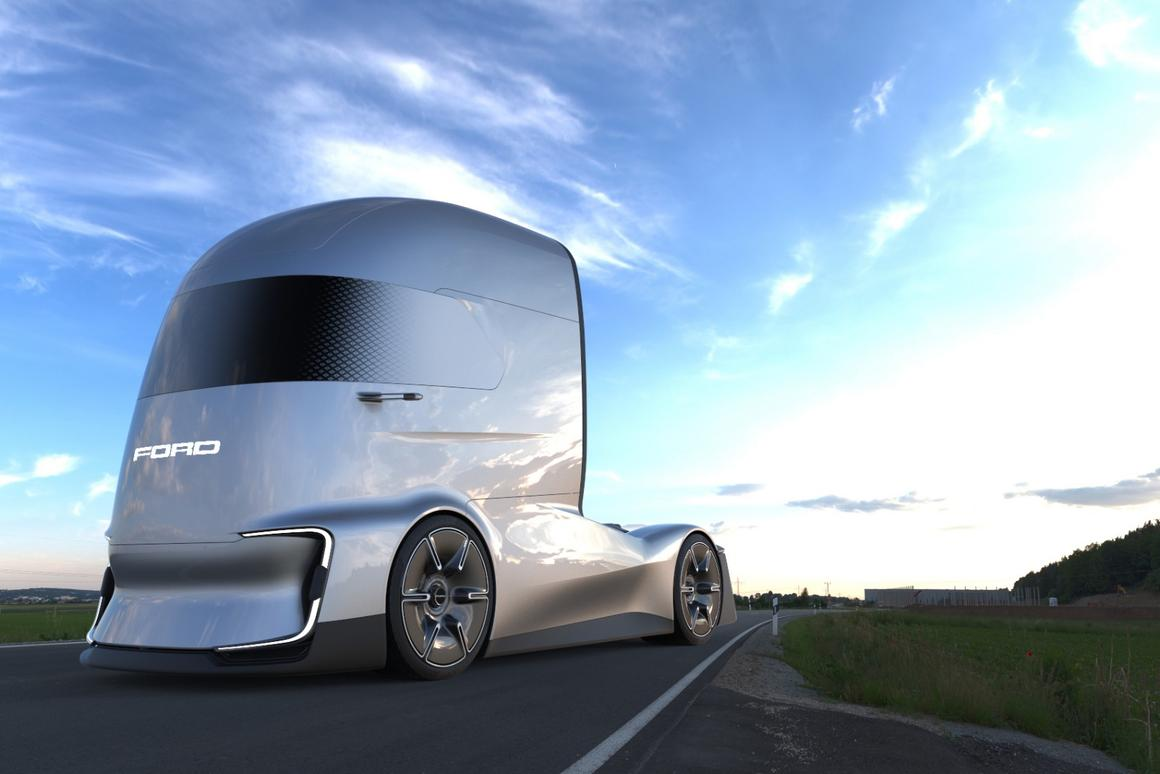 The design inspiration for the F-Vision truck, Ford's designers say, comes from comic book characters