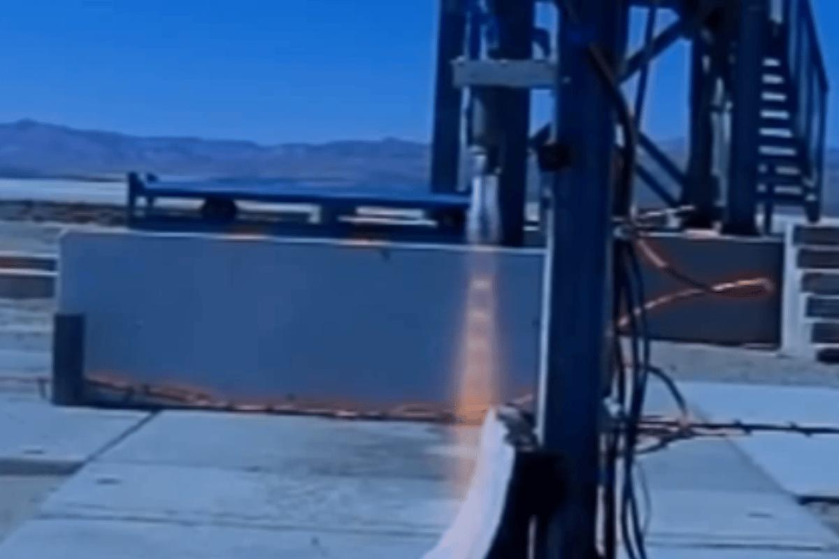 The Tri-D engine test firing