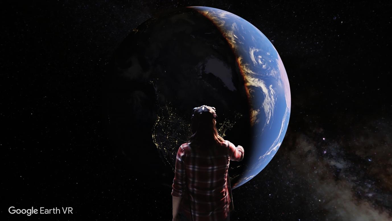 To begin with, Earth VR is launching on the HTC Vive