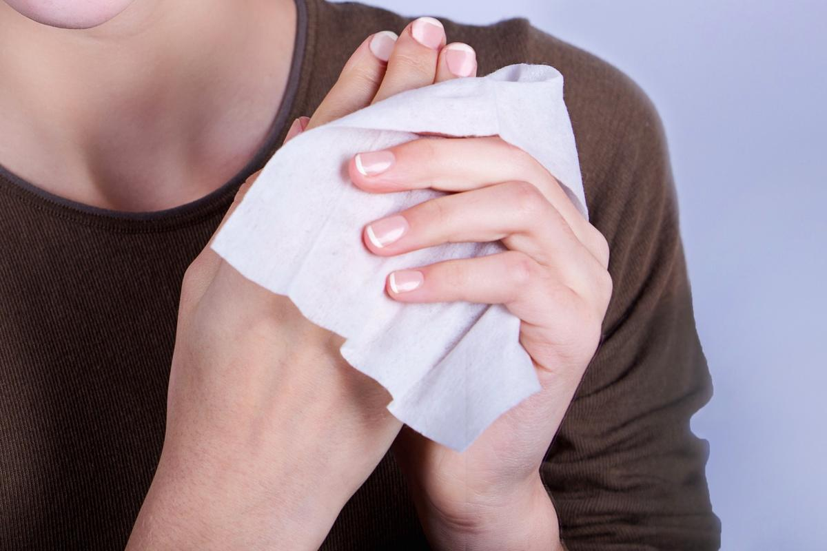 Using a moist towelette may help you to reprioritize