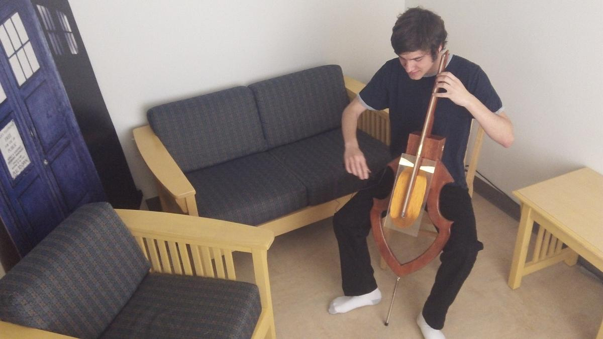 Electrical engineering student David Levi is about to embark on the first production run of his Magnetic Cello