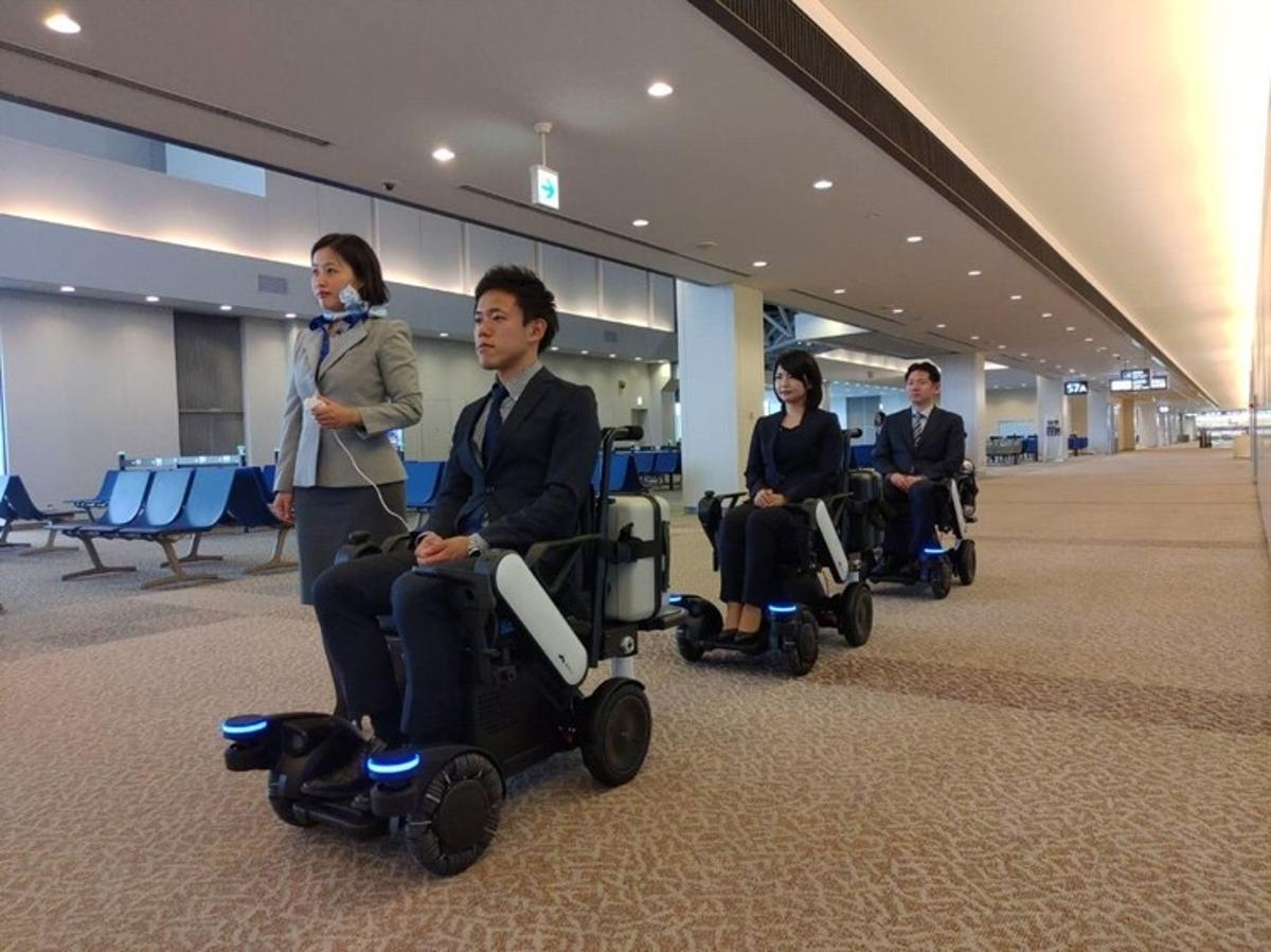To begin with, ANA staff will accompany the wheelchairs and serve as guides