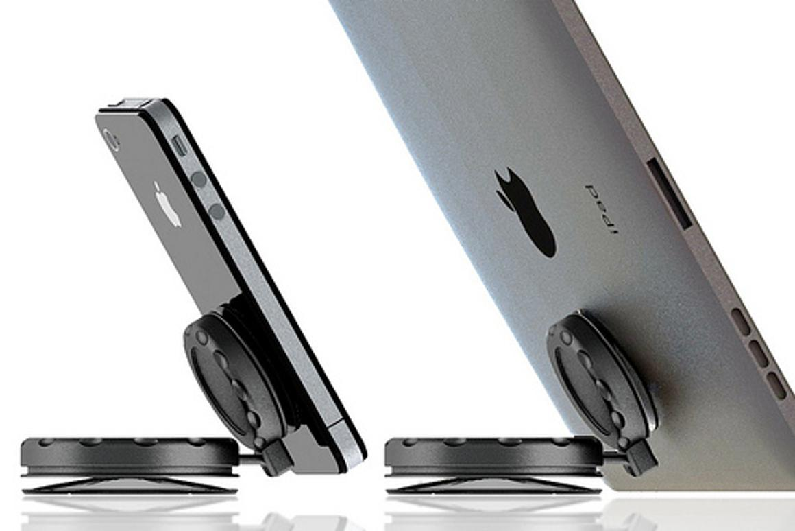 MobileMount is a suction cup-based universal mounting system for smartphones, tablets, or other mobile devices