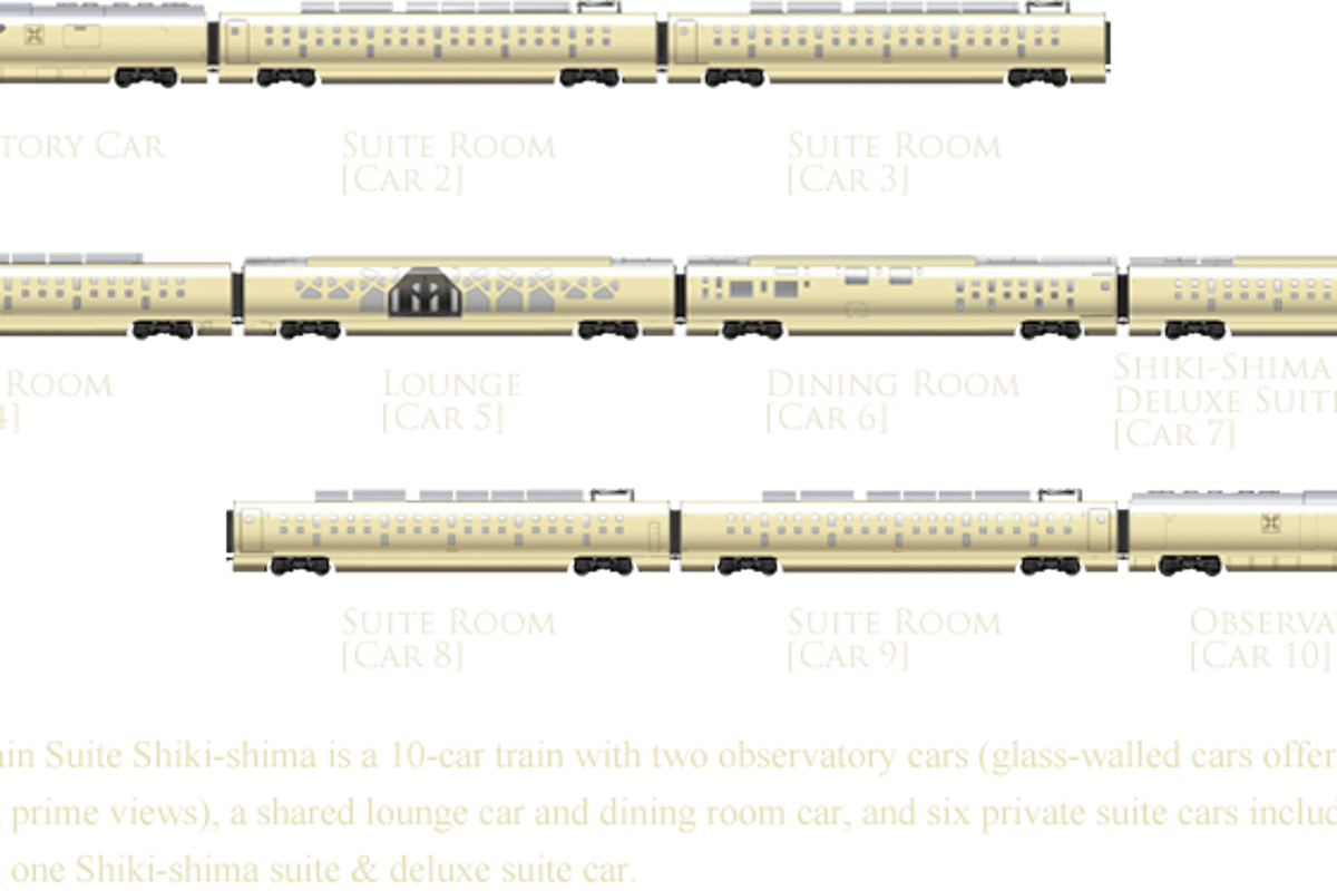 The One Bebe De Luxe super luxe shika-shima train debuts in japan
