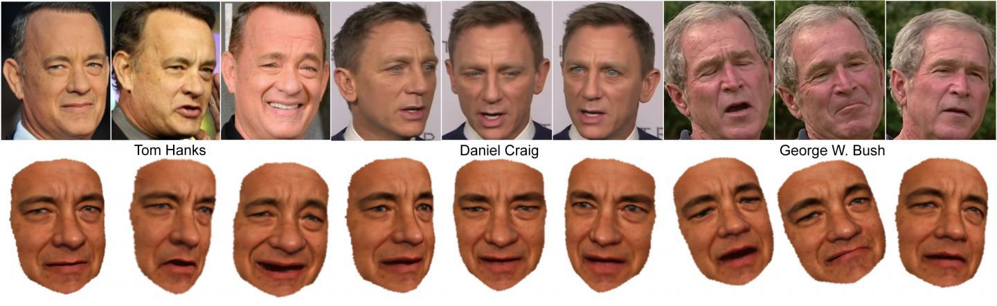 A visual breakdown of Daniel Craig and Tom Hanks images as taken from the internet